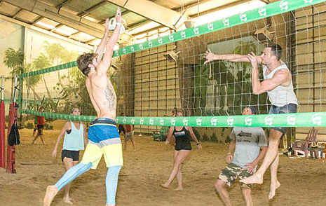 Drop In Volleyball Action an The Island