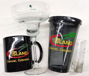 the island glassware