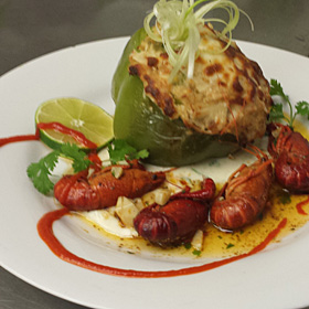 Crab Stuffed Pepper with Crawfish