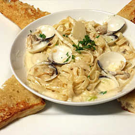 Fettucini with Clam Sauce
