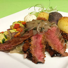 Tenderloin with Vegetable & Potato